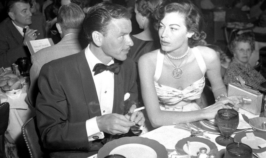 Vintage Pic: Ο Φρανκ Σινάτρα είχε μουστάκι & η γυναιίκα του Άβα Γκάρντνερ έμοιαζε ανορεξική από την αδυναμία - Κυρίως Φωτογραφία - Gallery - Video