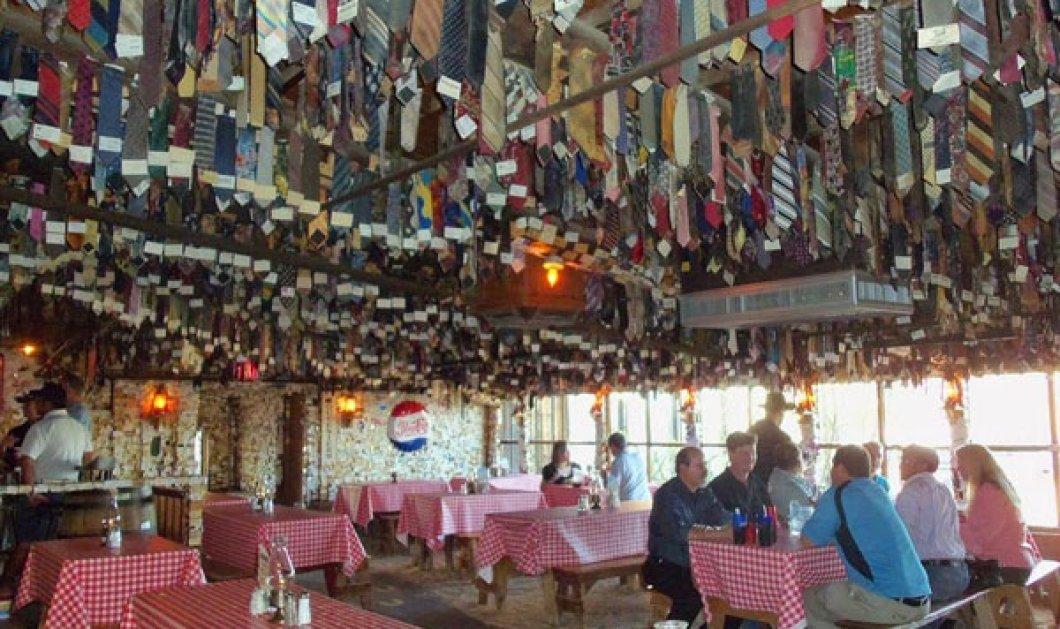 To εστιατόριο του ΣΥΡΙΖΑ βρέθηκε στην Αριζόνα - Απαγορεύονται οι γραβάτες & μάλιστα τις κρεμάνε στο ταβάνι! - Κυρίως Φωτογραφία - Gallery - Video