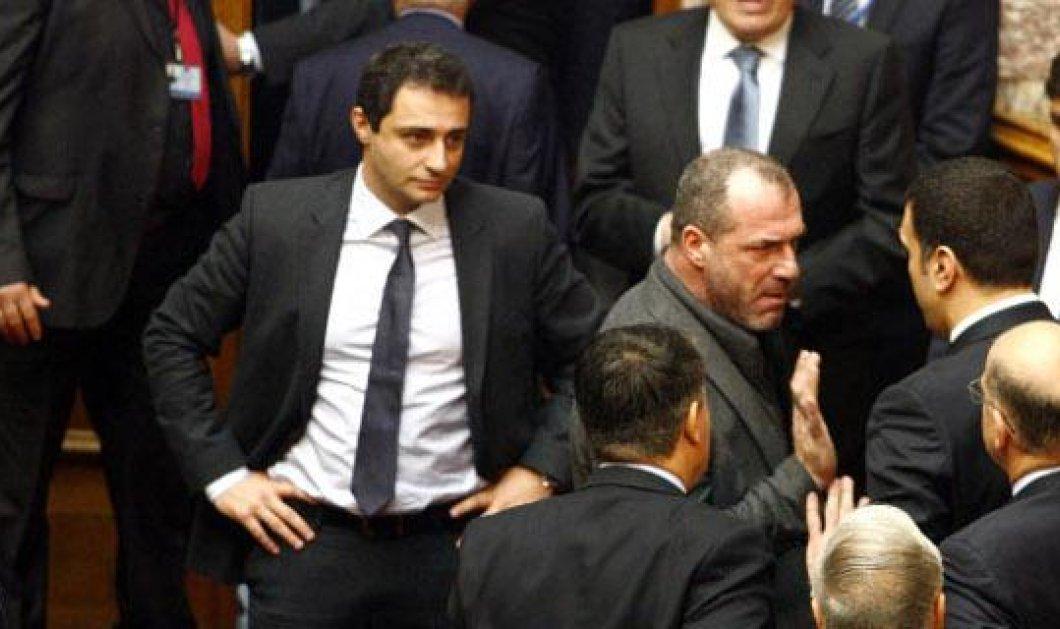 Προκλητική η ΧΑ μετά την ψηφοφορία - Βουλευτές του κόμματος επιτέθηκαν στον Ν. Δένδια - Η Ε. Ζαρούλια έφτυσε τον Σ. Μπούκουρα - Κυρίως Φωτογραφία - Gallery - Video