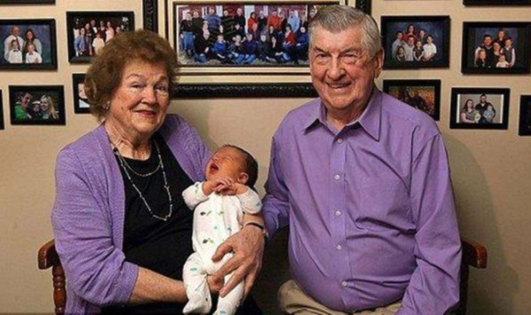 Story: Το 100ο τους εγγόνι καλωσόρισε ένα αγαπημένο ζευγάρι με 60 χρόνια γάμου - Κυρίως Φωτογραφία - Gallery - Video