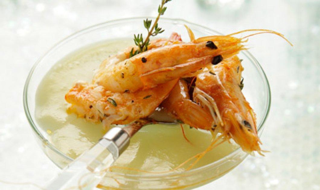 Πεντανόστιμες γαρίδες της Νένας Ισμυρνόγλου με σάλτσα από αφρώδες κρασί! - Κυρίως Φωτογραφία - Gallery - Video