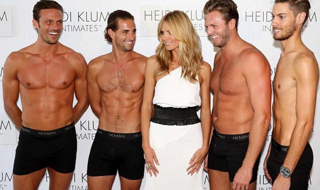 """Η Heidi Klum το """"παράκανε""""... """"Ξεδιάντροπα"""" παρουσιάζει αγκαλιά με ολόκληρο θίασο δίμετρων αντρών τη συλλογή της! ( βίντεο-φωτό) - Κυρίως Φωτογραφία - Gallery - Video"""