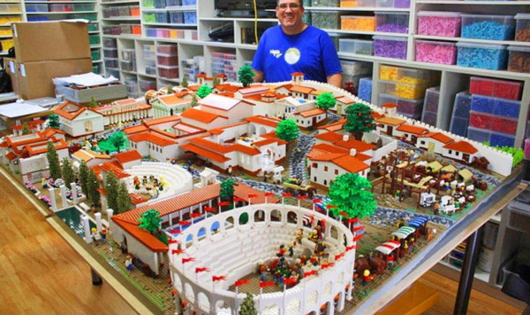 Σούπερ ! Ο Ryan McNaught έφτιαξε με lego την αρχαία Πομπηία, το Κολοσσαίο της Ρώμης & τη δική μας Ακρόπολη! - Κυρίως Φωτογραφία - Gallery - Video