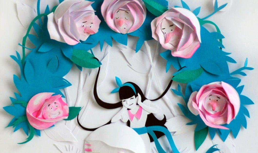 """Χάρτινα κολάζ με τις περιπέτειες της """"Αλίκης στη χώρα των Θαυμάτων"""" - Παραμυθένια & απίθανα! - Κυρίως Φωτογραφία - Gallery - Video"""