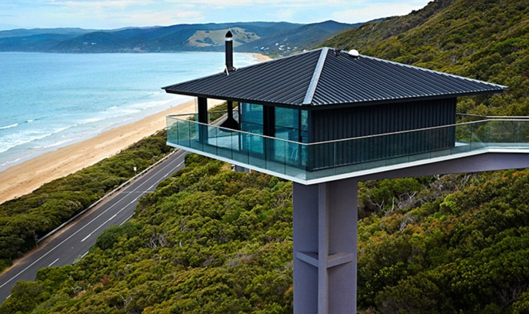 Pole House - Το σπίτι κοστίζει 3.500 δολ την εβδομάδα - Αιωρούμενο 40 μέτρα πάνω από λευκή άμμο στην Αυστραλία! (φωτό) - Κυρίως Φωτογραφία - Gallery - Video