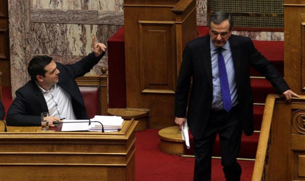 """Στο  """"κόκκινο"""" Τσίπρας - Σαμαράς ως τα ξημερώματα στη Βουλή: Με 156 ψήφους υπέρ από ΣΥΡΙΖΑ - ΑΝΕΛ η εξεταστική για τα μνημόνια! - Κυρίως Φωτογραφία - Gallery - Video"""