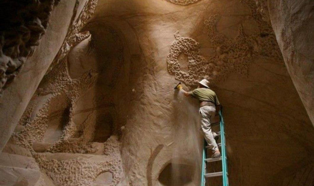 Αμερικανός καλλιτέχνης πέρασε 10 χρόνια από τη ζωή του, λαξεύοντας ένα σπήλαιο! (slideshow) - Κυρίως Φωτογραφία - Gallery - Video