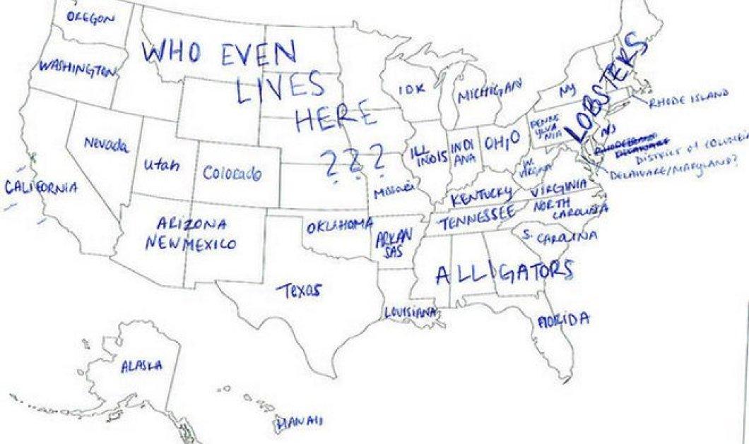 Smile: Πόσα γνωρίζουν οι Ευρωπαίοι για τη γεωγραφία των Η.Π.Α.; Θα διπλωθείτε στα γέλια από τις «άπαιχτες» απαντήσεις! (φωτό) - Κυρίως Φωτογραφία - Gallery - Video