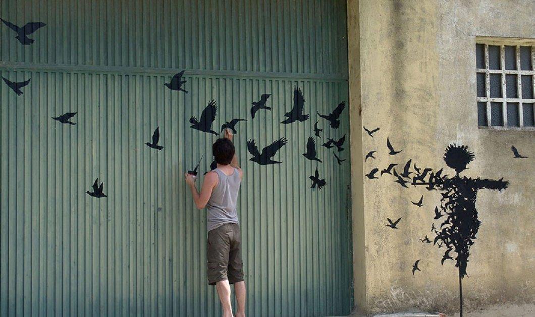 Ας απολαύσουμε τα μοναδικά, πανέμορφα & πρωτότυπα έργα τέχνης του Ισπανού Pejac που έχει βαλθεί να ομορφύνει τους Ευρωπαϊκούς δρόμους - (φωτό) - Κυρίως Φωτογραφία - Gallery - Video