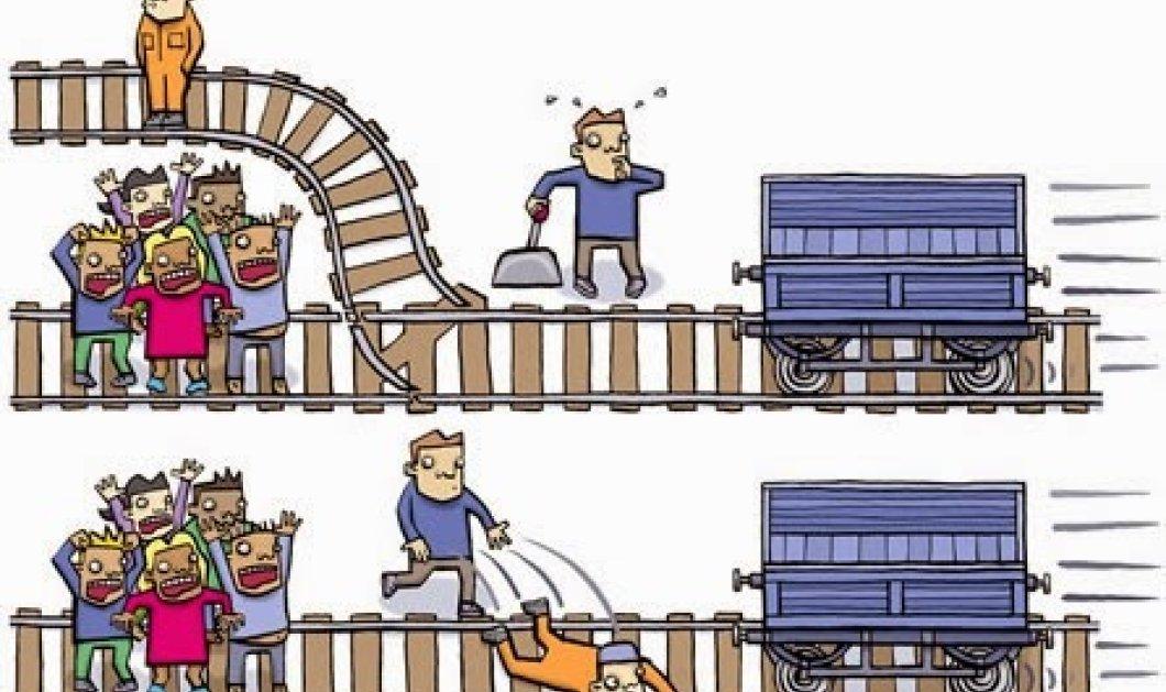 Το διάσημο φιλοσοφικό ερώτημα με το τρένο: Θα σκοτώνατε έναν άνθρωπο για να σώσετε πέντε; - Κυρίως Φωτογραφία - Gallery - Video