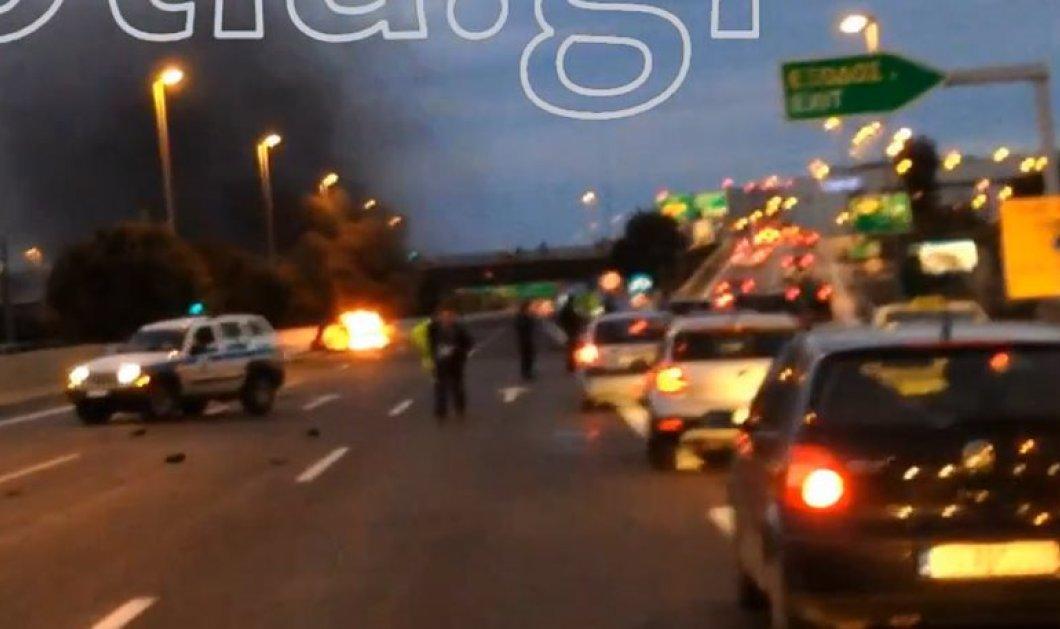 Προσοχή πολύ σκληρές εικόνες στο βίντεο με το smart που πήρε φωτιά στην Αττική οδό: Ξεκαθάρισμα λογαριασμών λέει η ΕΛ.ΑΣ.  - Κυρίως Φωτογραφία - Gallery - Video