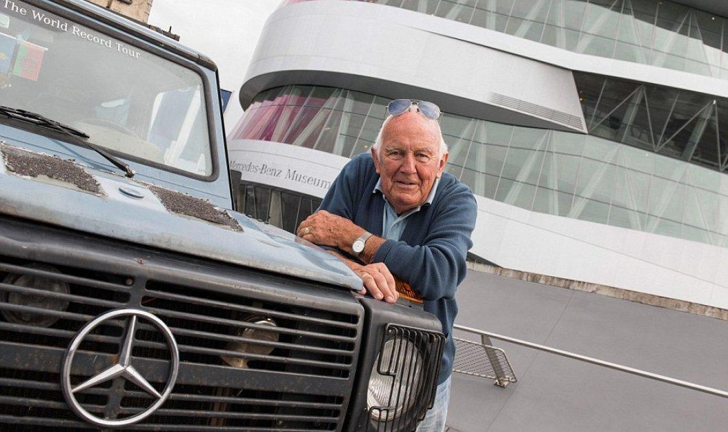 Story of the day:O Gunther & η Christine Holtorf γύρισαν 177 χώρες σε 24 χρόνια πάνω στο ίδιο αυτοκίνητο-το 2011 η Christine έφυγε από τη ζωή αυτός συνέχισε και τώρα παρέδωσε την Mercedes στο Μουσείο! - Κυρίως Φωτογραφία - Gallery - Video