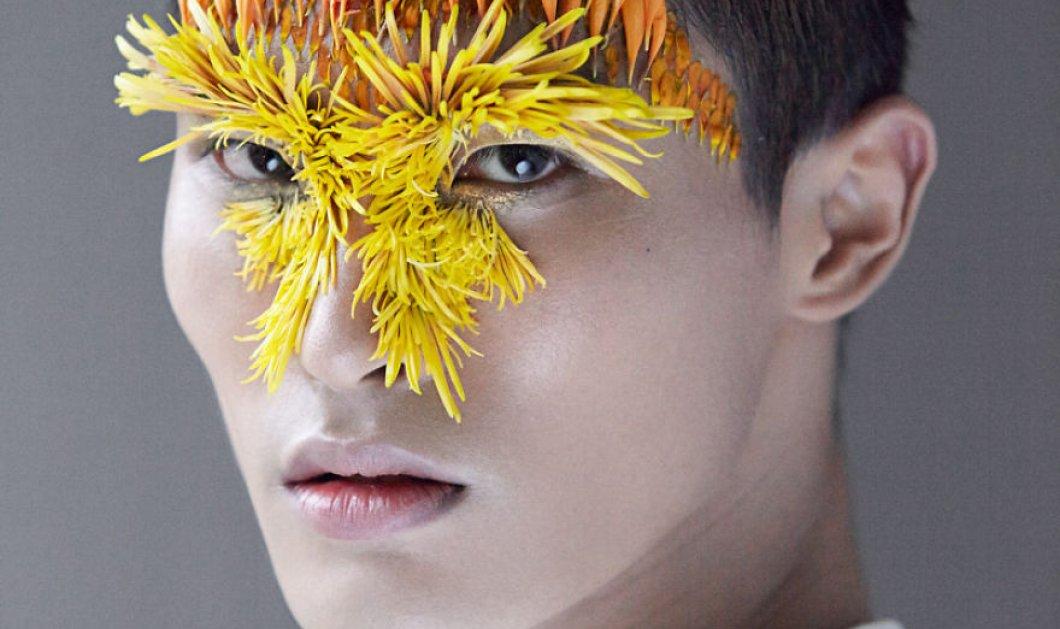 Απόκοσμα πορτρέτα με λουλούδια & πέταλα σε έναν καλλιτεχνικό οργασμό - Κυρίως Φωτογραφία - Gallery - Video