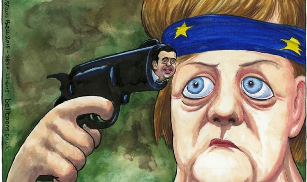 Το σκίτσο του Guardian που έγινε viral - Ο Τσίπρας, η Μέρκελ & η ''Ρώσικη ρουλέτα'' - Κυρίως Φωτογραφία - Gallery - Video