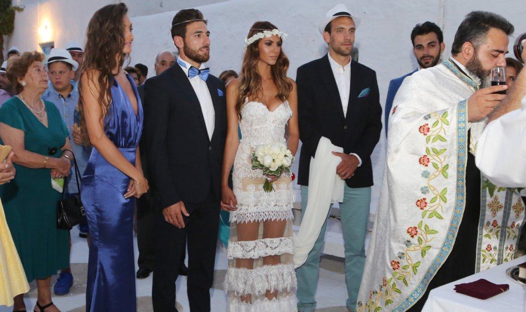 Ένας όμορφος γάμος για τον Έλληνα ποδοσφαιριστή και το μοντέλο στη Μύκονο- Δείτε φώτο - Κυρίως Φωτογραφία - Gallery - Video