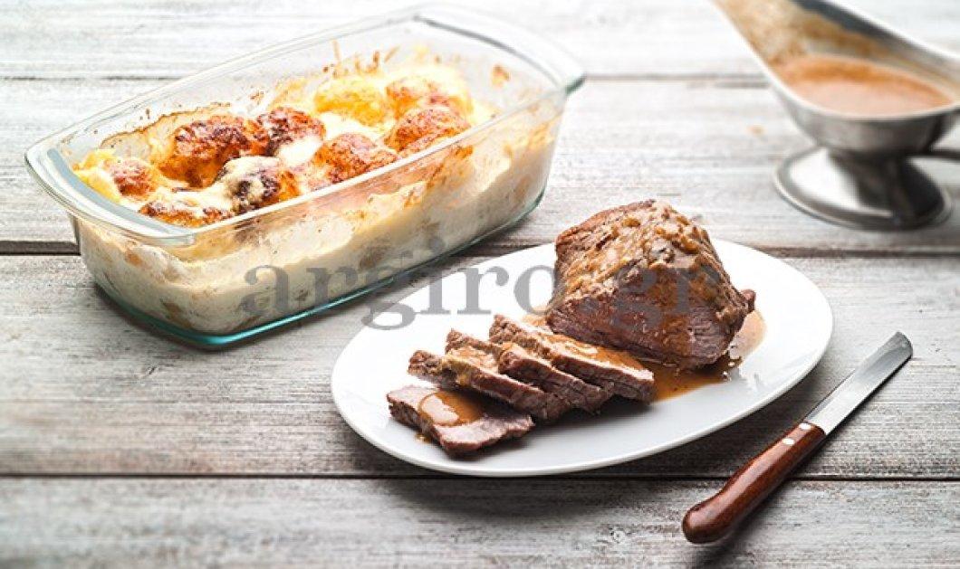 Εκπληκτικό ψητό της κατσαρόλας και πατάτες παπρικάζ ογκρατέν από την Αργυρώ - Κυρίως Φωτογραφία - Gallery - Video