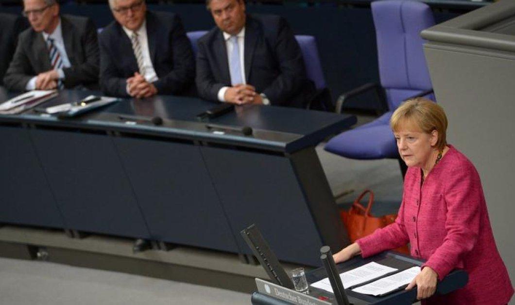 Μερκελ στη Γερμανική Βουλή: «Μόνο με ομόφωνη απόφαση θα δοθεί στους Έλληνες το τρίτο πακέτο στήριξης» - Κυρίως Φωτογραφία - Gallery - Video