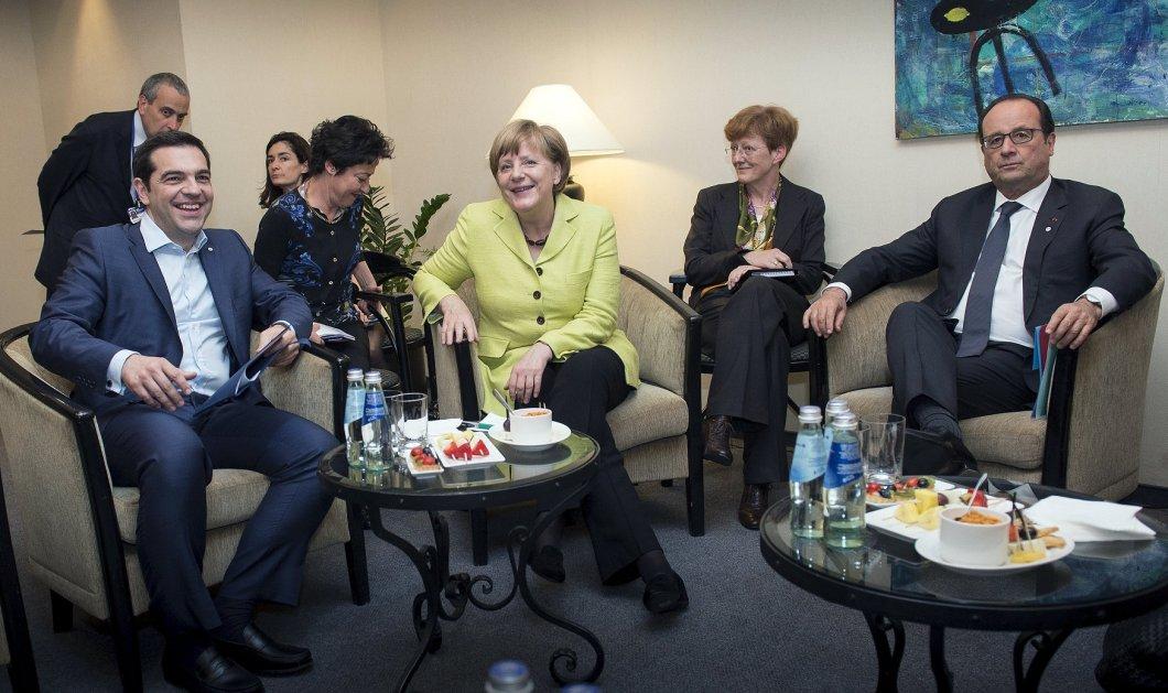 Ολοκληρώθηκε η συνάντηση Τσίπρα με Μέρκελ – Ολάντ - Γιούνκερ  - Κυρίως Φωτογραφία - Gallery - Video