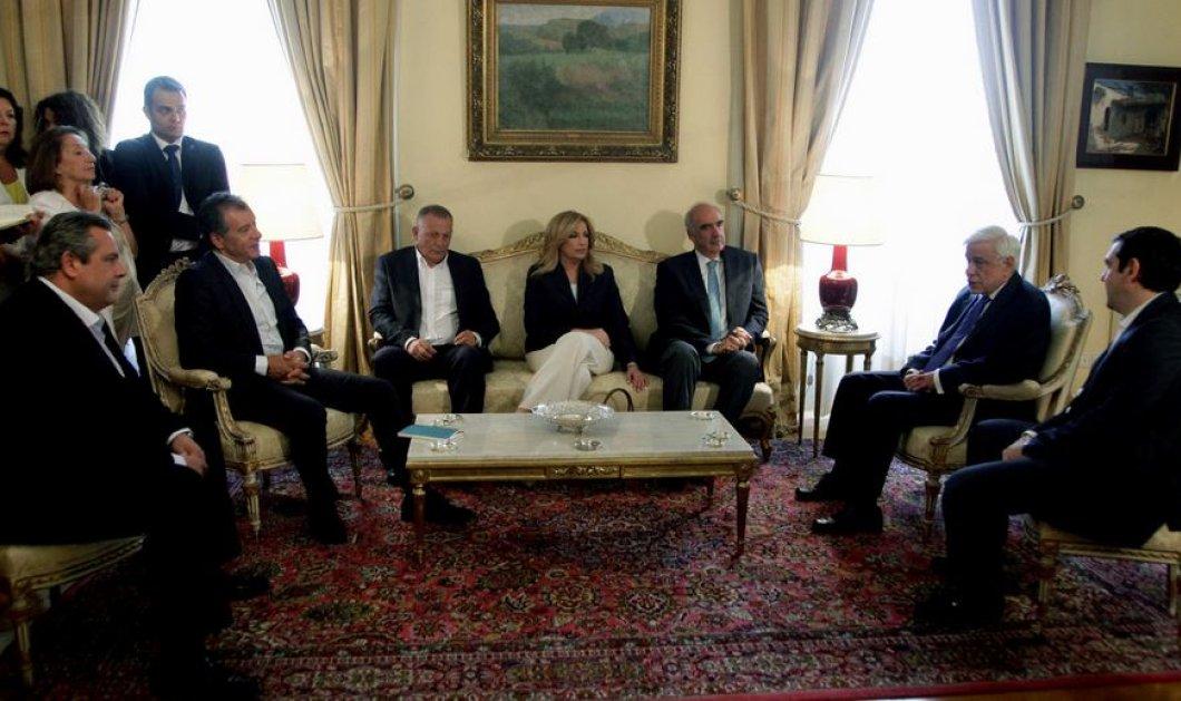 Ταχύτατο το γεύμα των Αρχηγών – «Μην φέρεις προβληματικά νομοσχέδια στην Βουλή κ. Τσίπρα»  - Κυρίως Φωτογραφία - Gallery - Video