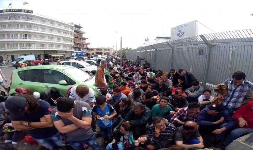 Βίντεο: Άγριες συμπλοκές μεταναστών μπροστά από το γραφείο του Λιμενικού Σώματος της Μυτιλήνης   - Κυρίως Φωτογραφία - Gallery - Video