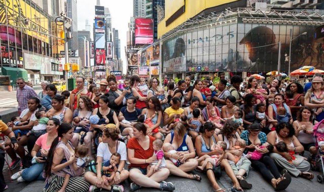 Γέμισε με θηλάζουσες μητέρες η Times Square της Ν. Υόρκης (φωτογραφίες)  - Κυρίως Φωτογραφία - Gallery - Video