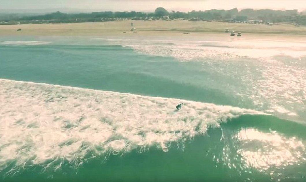 Ο Ντάστιν έσωσε τη ζωή surfers όταν διαπίστωσε από το Drone ότι δίπλα τους κολυμπούσαν δύο καρχαρίες   - Κυρίως Φωτογραφία - Gallery - Video