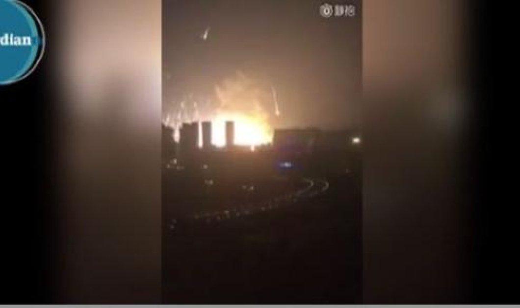 Βίντεο: Ισχυρή έκρηξη πριν λίγη ώρα στην κινεζική πόλη Τιάντζιν - Άγνωστη η αιτία που προκάλεσε το γεγονός - Κυρίως Φωτογραφία - Gallery - Video