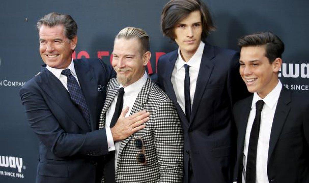 Πιρς Μπρόσναν: Σπάνια εμφάνιση με τους τρεις κούκλους γιους του μαζί    - Κυρίως Φωτογραφία - Gallery - Video