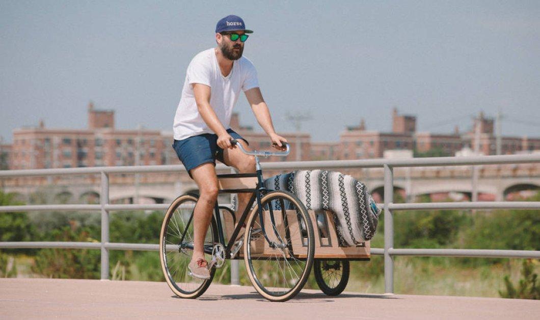 """Η αποθέωση του παλιού τρίκυκλου: Ένα υπερμοντέρνο ποδήλατο με """"παράπλευρη"""" ρόδα κουβαλάει σερφ!   - Κυρίως Φωτογραφία - Gallery - Video"""