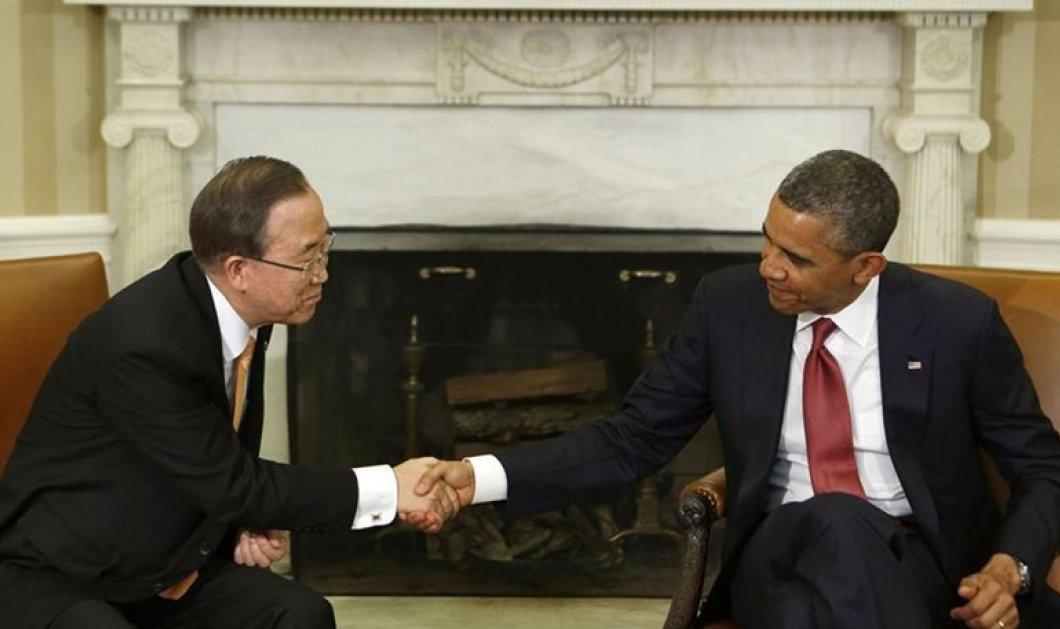 Συνάντηση Ομπάμα & Μπαν Γκι Μουν - Για νέο σχέδιο αντιμετώπισης της κλιματικής αλλαγής  - Κυρίως Φωτογραφία - Gallery - Video