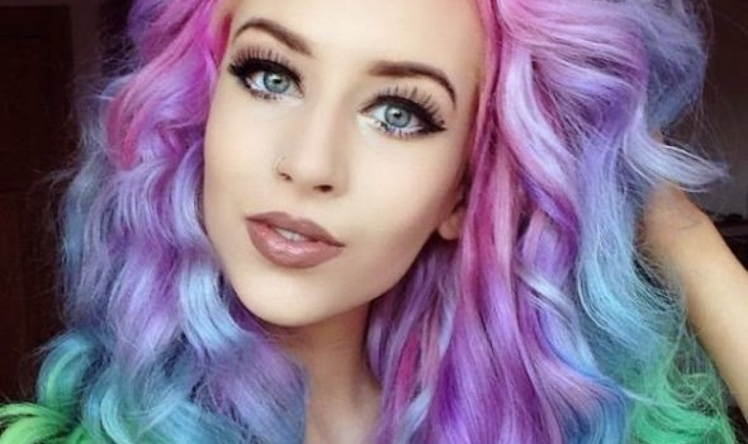 Eiναι στη μόδα! Ροζ μοβ ή ουράνιο τόξο τα χρώματα του καλοκαιριού στα μαλλιά σας!   - Κυρίως Φωτογραφία - Gallery - Video