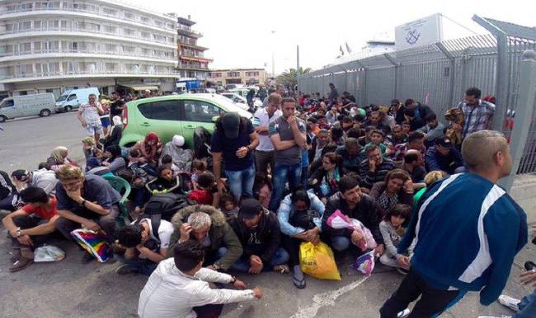 Βίντεο από τη Μυτιλήνη: Συμπλέκονται & μαχαιρώνονται μεταξύ τους οι μετανάστες - Κυρίως Φωτογραφία - Gallery - Video