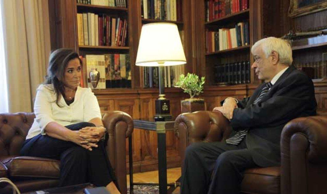 Προκόπης Παυλόπουλος συναντά Ντόρα: Ελληνικές ελλείψεις αλλά & ευρωπαϊκές ευθύνες στο μεταναστευτικό (Βίντεο) - Κυρίως Φωτογραφία - Gallery - Video