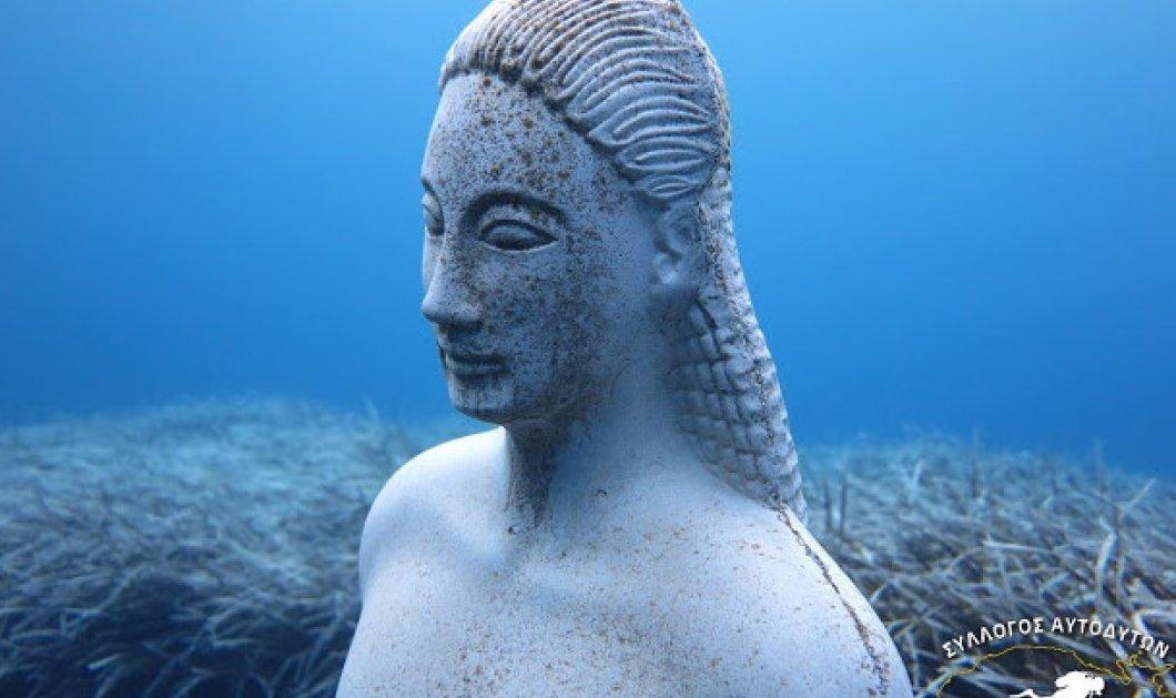 Σάμος - βίντεο: Φανταστικές εικόνες από τον Κούρο που βρίσκεται στο βυθό του Κοκκαρίου  - Κυρίως Φωτογραφία - Gallery - Video