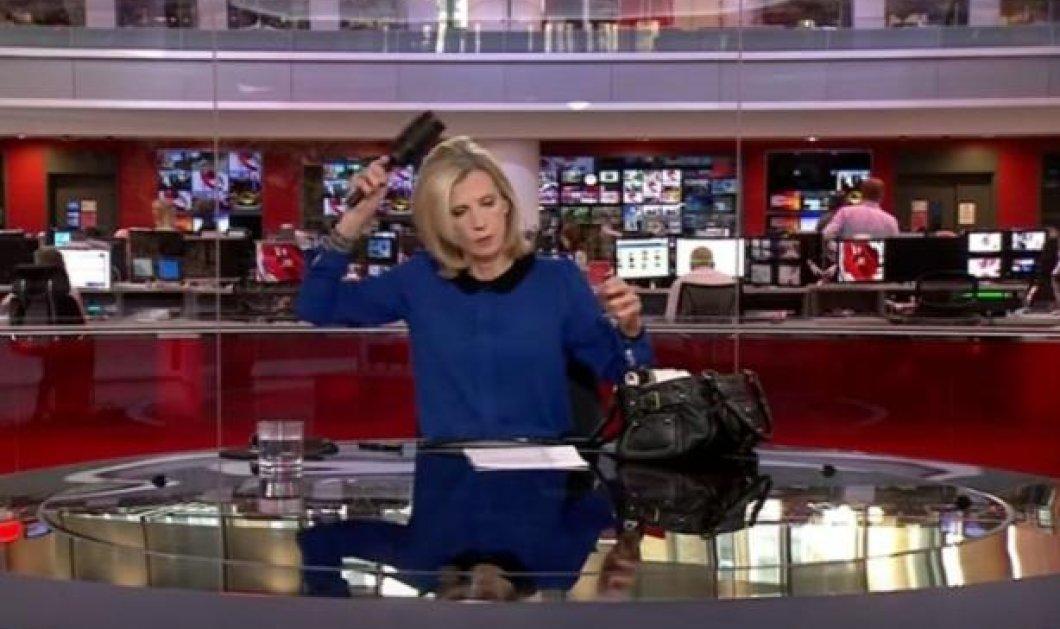 Ξεκαρδιστικό βίντεο: Παρουσιάστρια του BBC χτενίζεται αμέριμνη ενώ έχει ξεκινήσει το δελτίο - Κυρίως Φωτογραφία - Gallery - Video