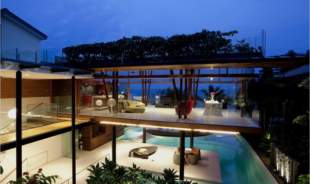 Tο ωραιότερο σπίτι στον κόσμο είναι εδώ: Με σαλόνι βυθισμένο στην πισίνα & θέα όλων των δωματίων στο απέραντο γαλάζιο  - Κυρίως Φωτογραφία - Gallery - Video