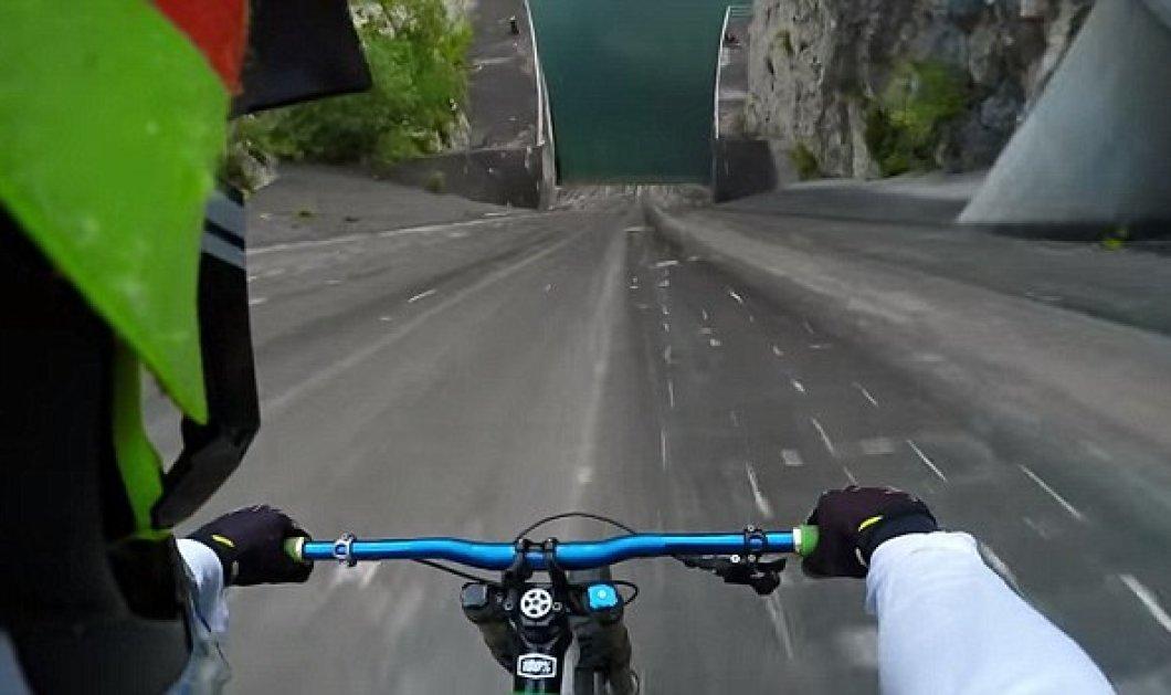 Φοβερό βίντεο: Ο Πριμόζ Ράβνικ κατέβηκε με το ποδήλατο του φράγμα 60 μέτρων στην Λιουμπλιάνα - Κυρίως Φωτογραφία - Gallery - Video