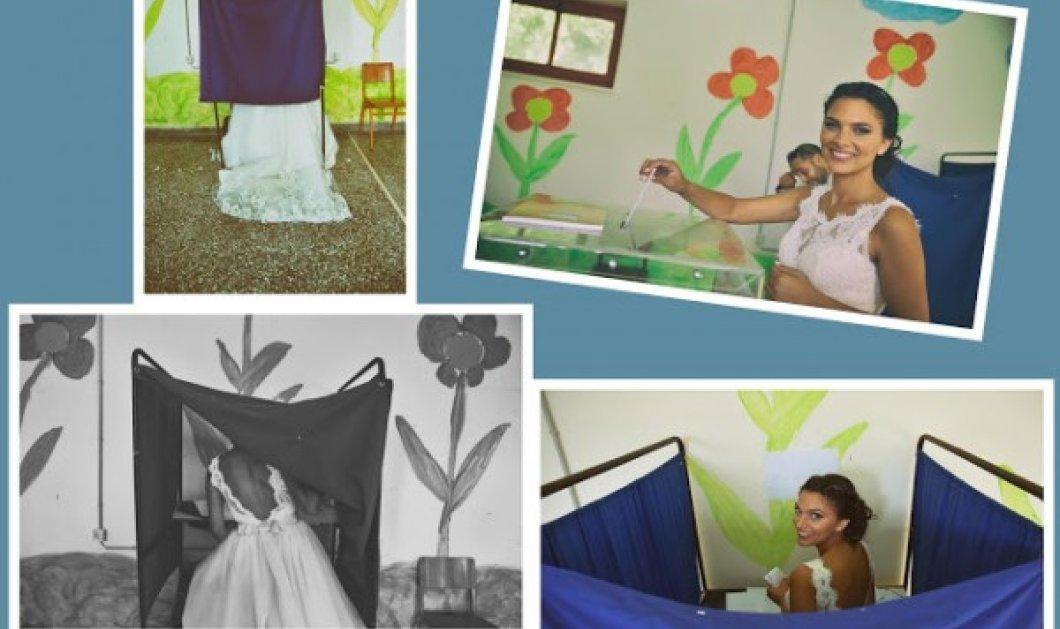 Γιάννενα: Νύφη λίγο πριν το μυστήριο, φορώντας το νυφικό της, επισκέφτηκε το εκλογικό τμήμα για να ψηφίσει - Κυρίως Φωτογραφία - Gallery - Video