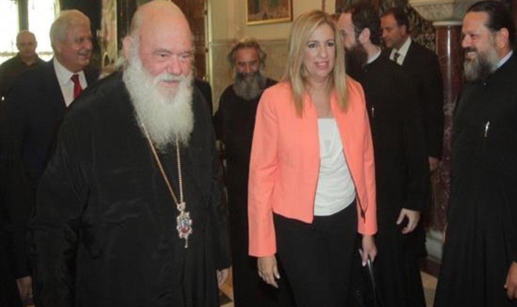 Με τον αρχιεπίσκοπο συναντήθηκε η Φ. Γεννηματά - Επεσήμαναν την ανάγκη για σταθερότητα   - Κυρίως Φωτογραφία - Gallery - Video