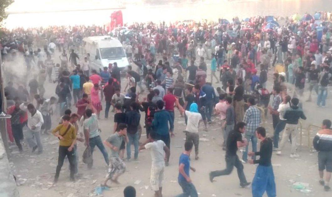 Σκηνές απελπισίας στην Μυτιλήνη - 1.000 μετανάστες ποδοπατήθηκαν για να μπουν στο Blue Star 1  - Κυρίως Φωτογραφία - Gallery - Video