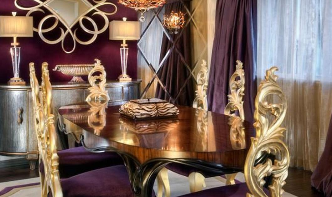 Πάμε να δούμε εξτριμ ιδέες για διακόσμηση: Μωβ & χρυσό σε βασιλικές τραπεζαρίες living rooms & μπάνια      - Κυρίως Φωτογραφία - Gallery - Video