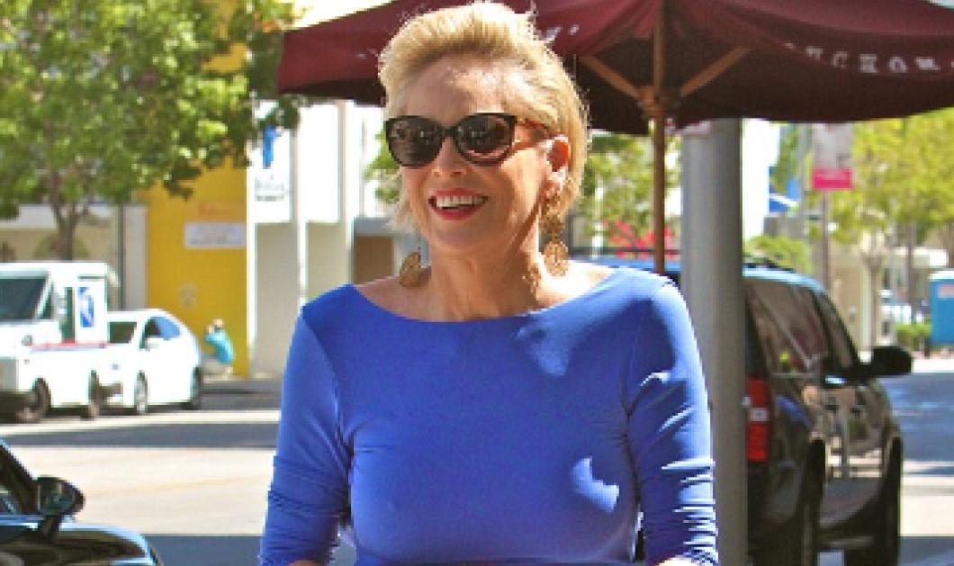 Η Σάρον Στόουν είναι 57! Ε και; Βγήκε με κολλητό φουστάνι χωρίς σουτιέν & είναι ουάου   - Κυρίως Φωτογραφία - Gallery - Video