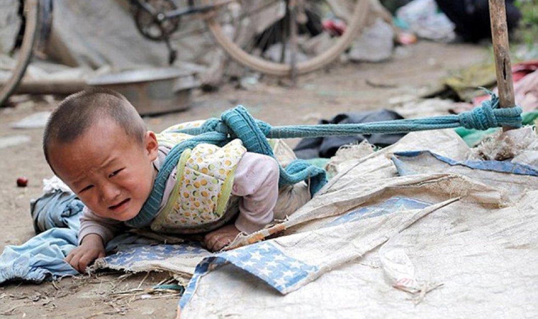 Άνδρας στην Κίνα κρατά δεμένους τη γυναίκα και το γιο του - Δείτε τις εικόνες που εξοργίζουν την κοινή γνώμη - Κυρίως Φωτογραφία - Gallery - Video