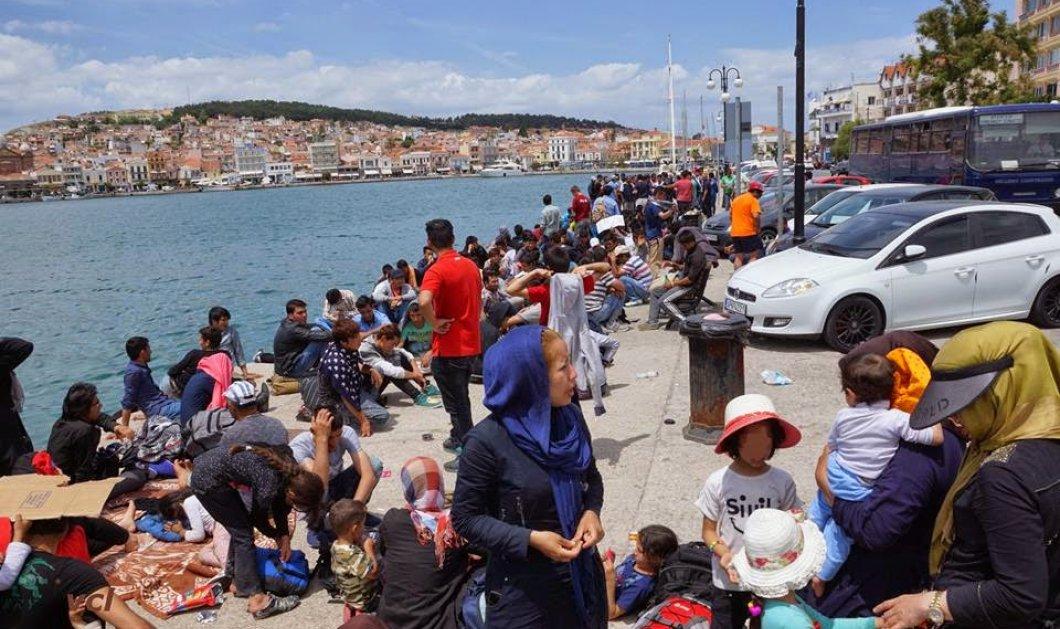 Εκτός ελέγχου η κατάσταση στη Μυτιλήνη: Νέες συγκρούσεις μεταναστών με αστυνομικούς στο λιμάνι - Κυρίως Φωτογραφία - Gallery - Video