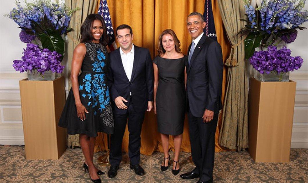 Δείτε τη φωτογραφία του ζεύγους Τσίπρα με τους Ομπάμα - Ο Αλέξης & η Μπέτυ δίπλα στον Μπαράκ & την Μισέλ  - Κυρίως Φωτογραφία - Gallery - Video