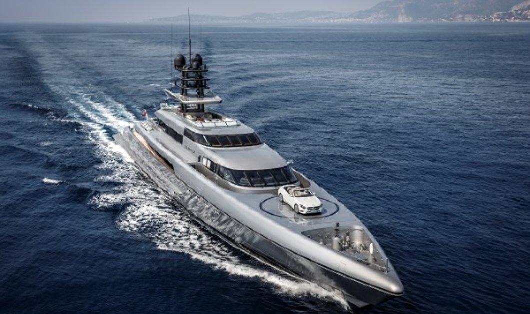 Το νέο γιοτ - όνειρο κοστίζει 88 εκατομμύρια δολάρια & έχει ελικοδρόμιο ενώ χωράει άνετα & την Mercedes σας - Κυρίως Φωτογραφία - Gallery - Video