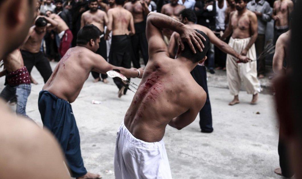 Πειραιάς: Η ανατριχιαστική τελετή του αιματηρού αυτομαστιγώματος των Σιιτών μουσουλμάνων σε εικόνες που κόβουν την ανάσα - Κυρίως Φωτογραφία - Gallery - Video