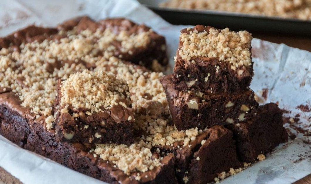 Οι πιο λαχταριστές brownies με σοκολάτα και αμύγδαλα του Άκη Πετρετζίκη - Κυρίως Φωτογραφία - Gallery - Video