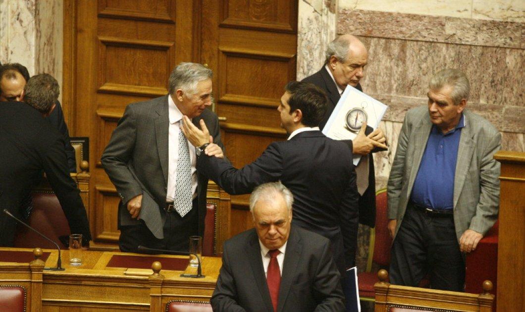 Τετ α τετ στη Βουλή: Πώς χαιρέτησε ο Τσίπρας τον Πελεγρίνη - Κυρίως Φωτογραφία - Gallery - Video