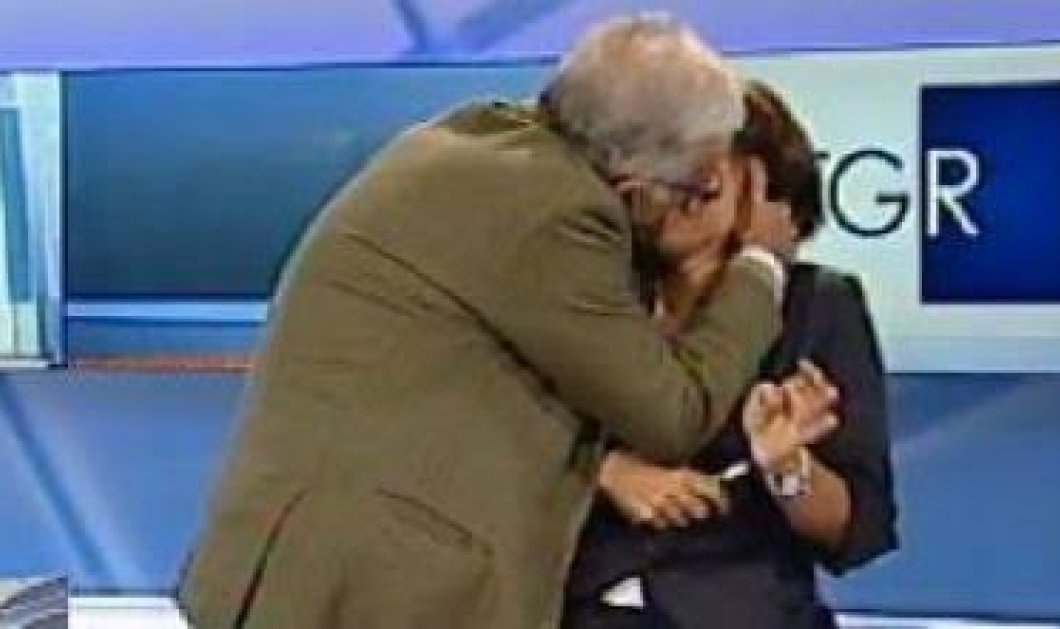 """Βίντεο: Η  στιγμή που ένας ζωηρός καλεσμένος φιλάει με πάθος την δημοσιογράφο on air: """"πέθανα από την ντροπή μου""""  - Κυρίως Φωτογραφία - Gallery - Video"""